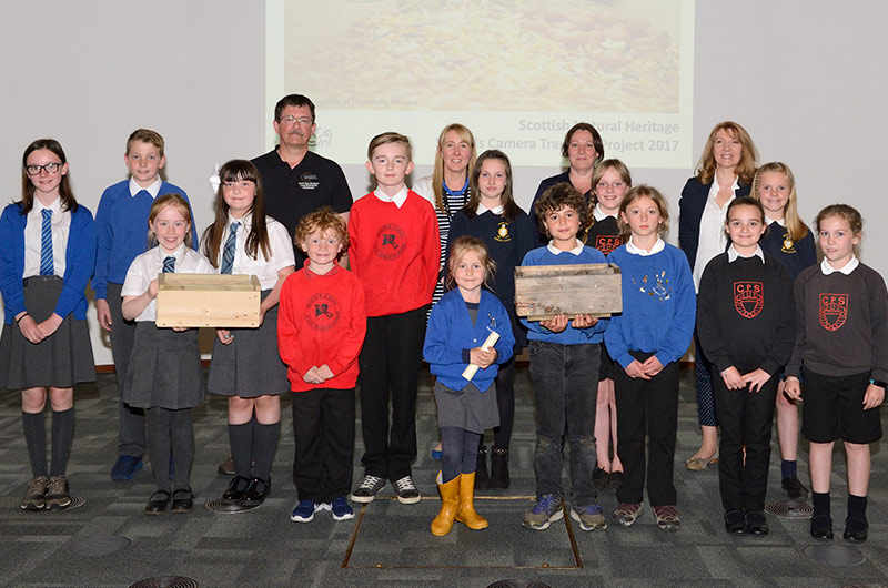 Picture showing the winners of the School Camera Trapping competition.